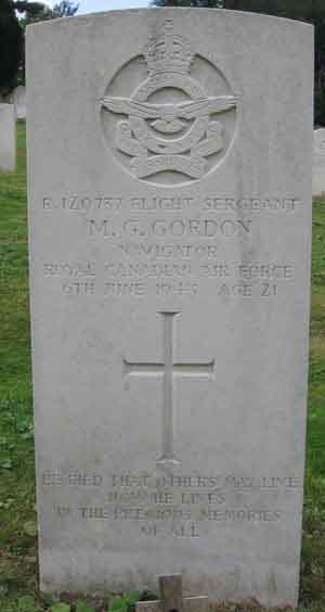 Flight Sergeant MILTON GEORGE GORDON