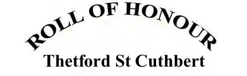 THETFORD, ST CUTHBERT ROLL OF HONOUR